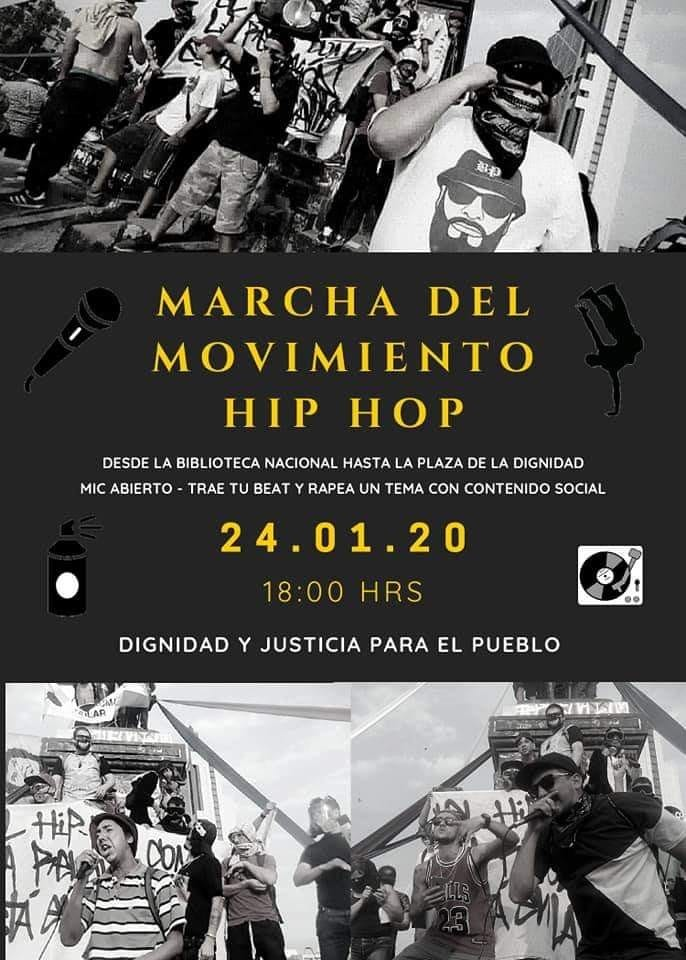 24 1 2020 marcha movimiento hip hop